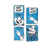 Wet Paint Detective Photographic Print