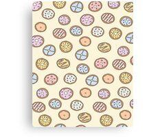 Pastel Donuts Canvas Print