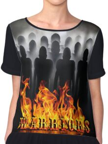 Warriors Flames  Chiffon Top