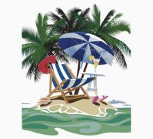 Tropical island One Piece - Long Sleeve