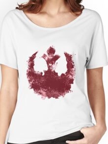 Rebel Alliance splatter  Women's Relaxed Fit T-Shirt