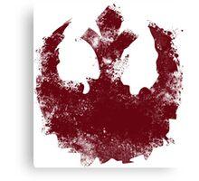 Rebel Alliance splatter  Canvas Print