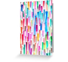 Candy colored brushstrokes Greeting Card