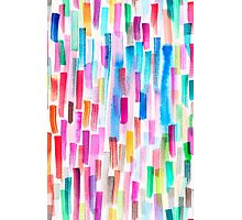 Candy colored brushstrokes Photographic Print