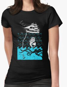 Nautical Waves Womens Fitted T-Shirt