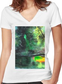 Brook Women's Fitted V-Neck T-Shirt