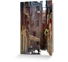 Venetian lane Greeting Card