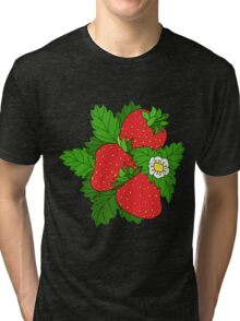Ripe juicy strawberries Tri-blend T-Shirt