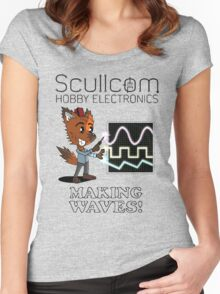 Scullcom, Making Waves Women's Fitted Scoop T-Shirt
