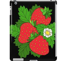 Ripe juicy strawberries iPad Case/Skin