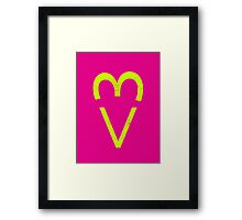 Internet Heart Framed Print