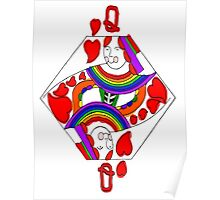 Love and Rainbows, Queen of Hearts Poster