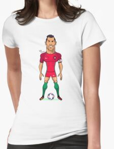 Ronaldo (SuperEuros) Womens Fitted T-Shirt