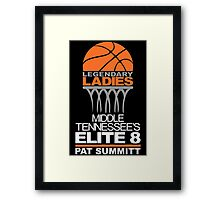 PAT SUMMITT LEGENDARY LADIES ELITE 8 TENNESSEE'S BASKETBALL Framed Print