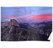Sunsent: Glacier Point, Yosemite, CA., 15 June 2014 Poster