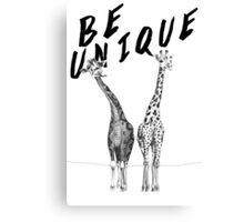 Be Unique, Giraffes Canvas Print