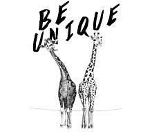 Be Unique, Giraffes Photographic Print
