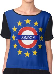 London Shall Remain - (with funky over-sized stars) Chiffon Top