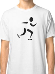 Inline Skating icon Classic T-Shirt