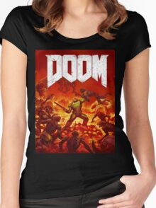 Doom Women's Fitted Scoop T-Shirt