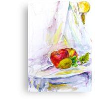 still life with apple Canvas Print