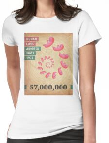 Fifty Seven Million Abortions Womens Fitted T-Shirt