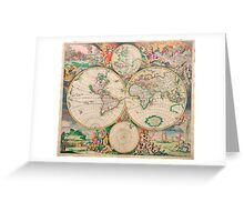 Mercator map Greeting Card
