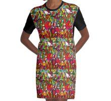 garden Graphic T-Shirt Dress