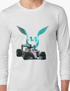 Lewis Hamilton F1 with LH 2016 44 car Long Sleeve T-Shirt