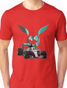 Lewis Hamilton F1 with LH 2016 44 car Unisex T-Shirt
