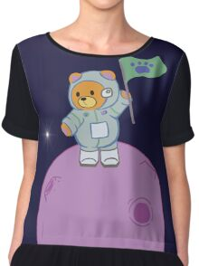 Space Bear and Stars Chiffon Top