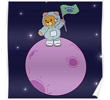 Space Bear and Stars Poster