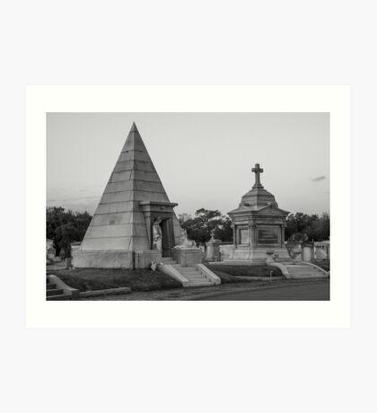 Pyramid Tomb Art Print