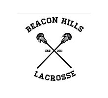Beacon Hills Lacrosse Tshirt Photographic Print