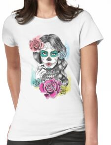 Aaliyah, Day of the Dead Womens Fitted T-Shirt