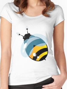 Cute ButterFly with signals Women's Fitted Scoop T-Shirt