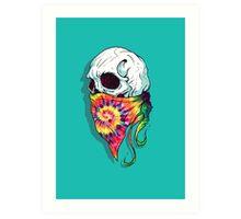 Skull Hipster Art Print