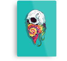 Skull Hipster Metal Print