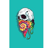 Skull Hipster Photographic Print