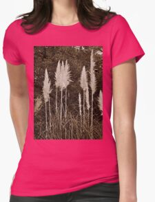 Toi Toi Grass in Sepia Womens Fitted T-Shirt