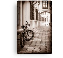 Down town - the old part Canvas Print
