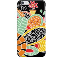Cute Snail with Flowers & Swirls in Bright Colours iPhone Case/Skin