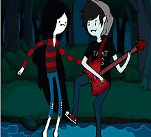 Marceline and Marshall Lee - Adventure Time by Jonnybravo245