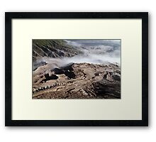 The Way Up. Mount Bromo, East Java, Indonesia. Framed Print