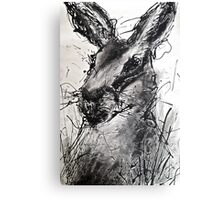 Hare Drip painting Canvas Print
