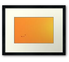 Sunset Gold - Nature Background - Flight of the Free Framed Print