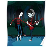 Marceline and Marshall Lee - Adventure Time Poster