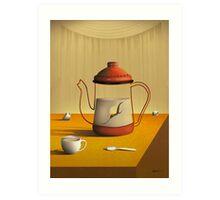 Bule Sobre a Mesa. Art Print