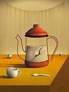 Bule Sobre a Mesa. by Marcel Caram