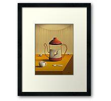 Bule Sobre a Mesa. Framed Print